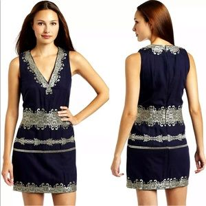 French Connection Midnight Moscow Dress Blue 2